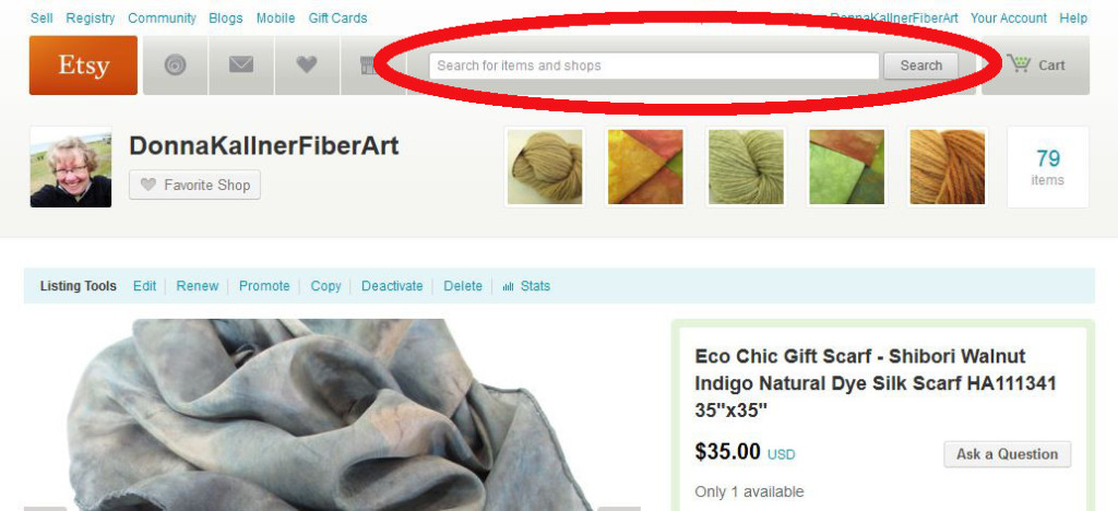 Use Etsy's search tools effectively.