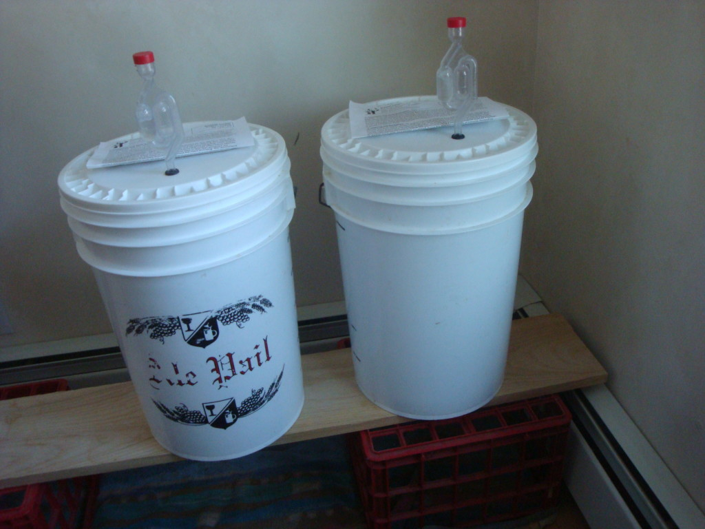 Homebrew beer pails.