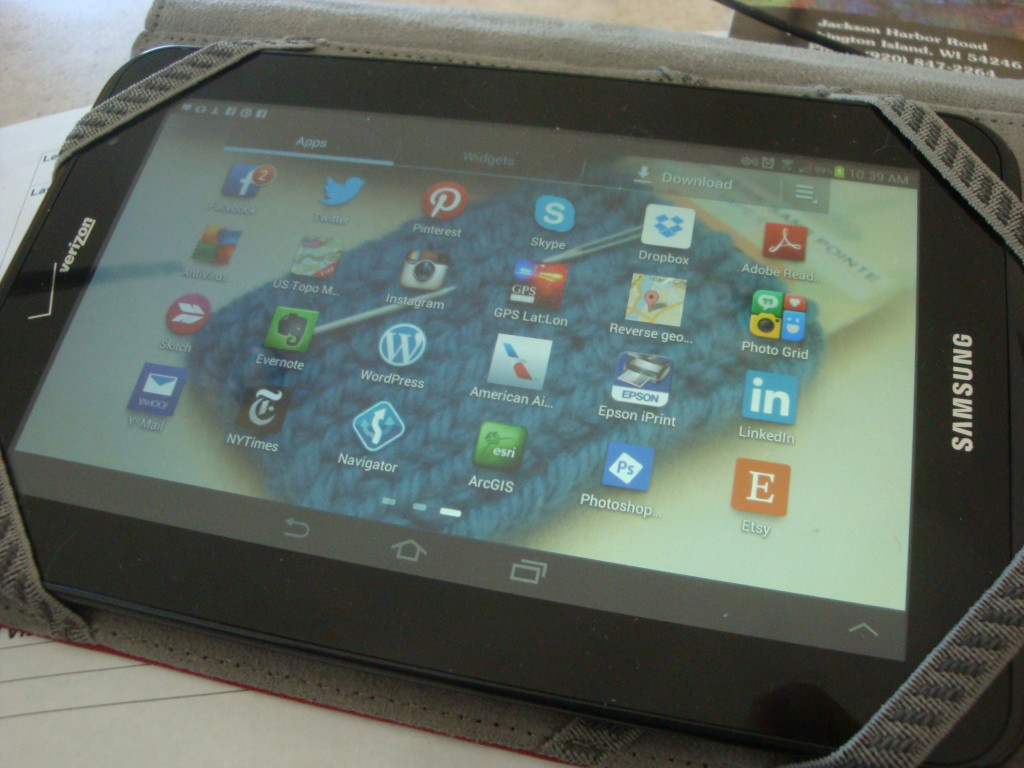 Dpnna's Android tablet.