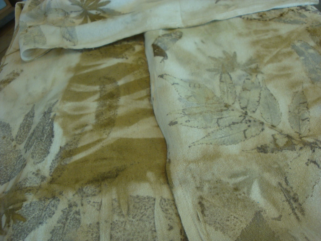 Natural dye silk scarves by Donna Kallner