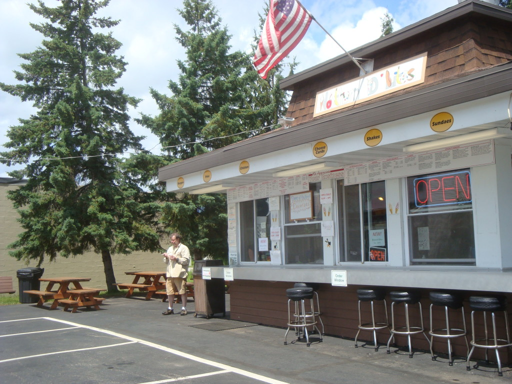 Ice cream stand in Lakewood, Wisconsin.