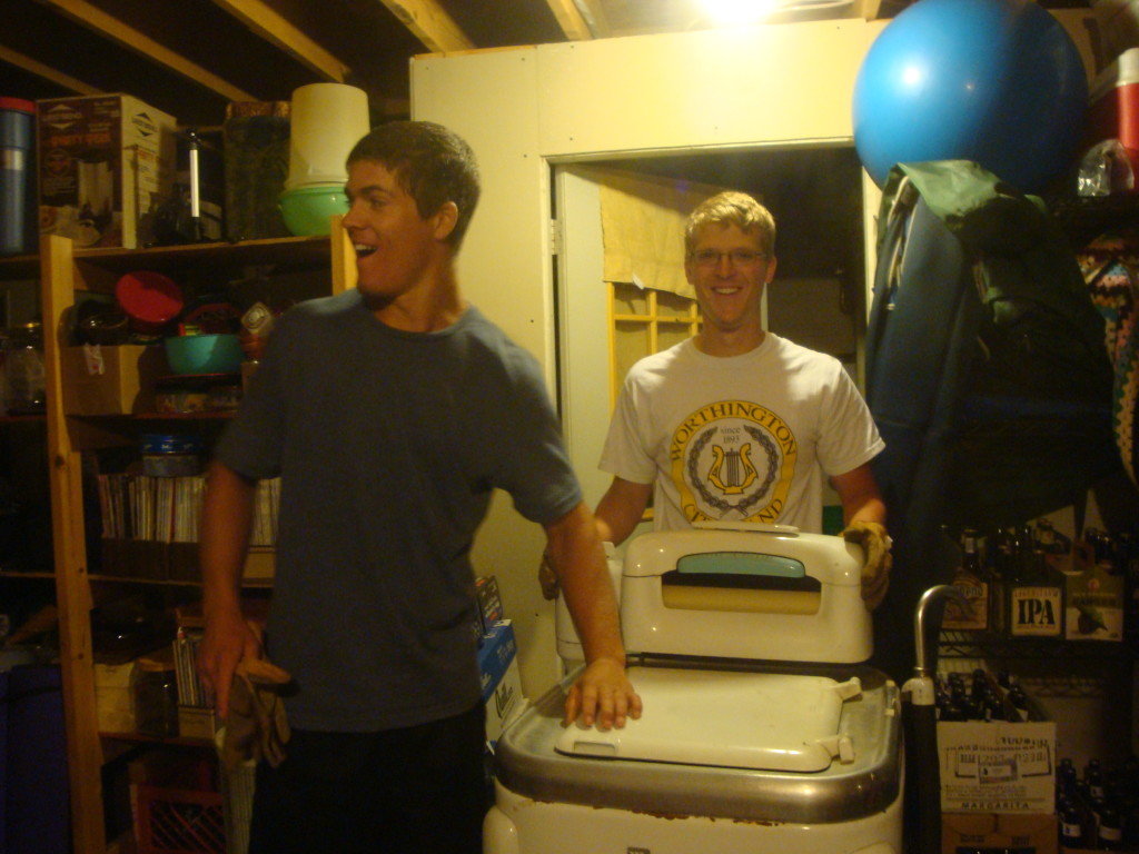 Wringer washer is now in the basement.